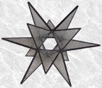 Stained Glass 3-D Star