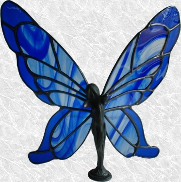Stained Glass Butterfly Lady