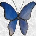 Stained Glass Suction Cup Butterfly