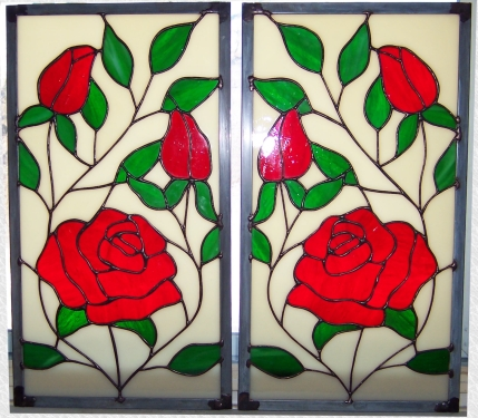 Custom Stained Glass Cabinet Doors