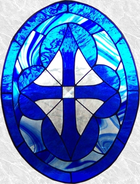 Stained Glass Beveled Geometric Panel