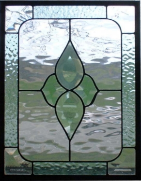 Stained Glass Geometric Panel
