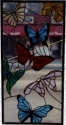 Stained Glass Butterflies Panel