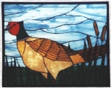 Stained Glass Pheasant Panel
