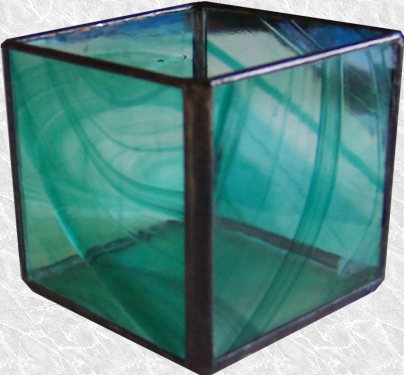 Stained Glass Candle Shelter