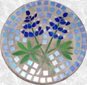 Blue Bonnet Stained Glass Stepping Stone