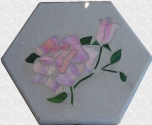 Rose Stained Glass Stepping Stone