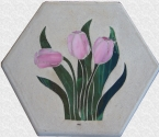 Tulip Stained Glass Stepping Stone