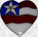 Stained Glass Heart Flag