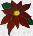 Stained Glass Poinsettia Suncatcher