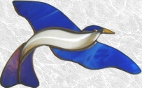 Stained Glass Bevel Bird