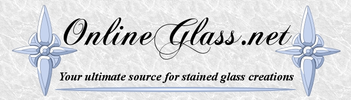 OnlineGlass.net - Your ultimate source for stained glass creations!